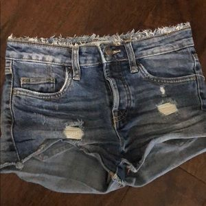 Treasure and Bond girls distressed shorts